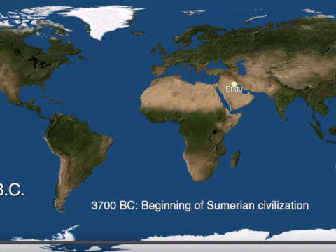 Map of human civilization